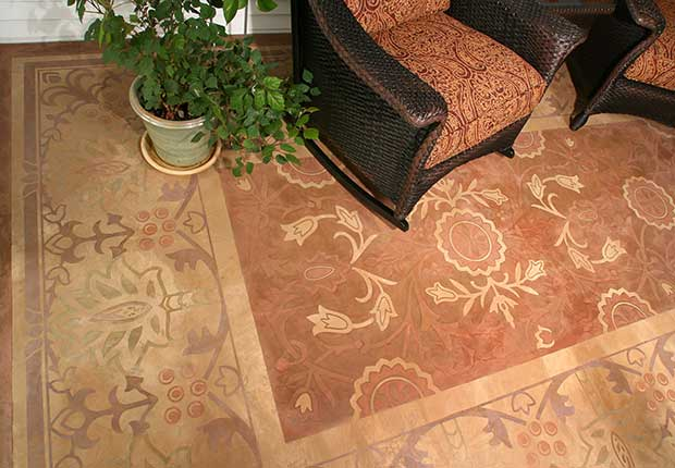 Stencil Star The Sophisticated Stenciled Floors Of