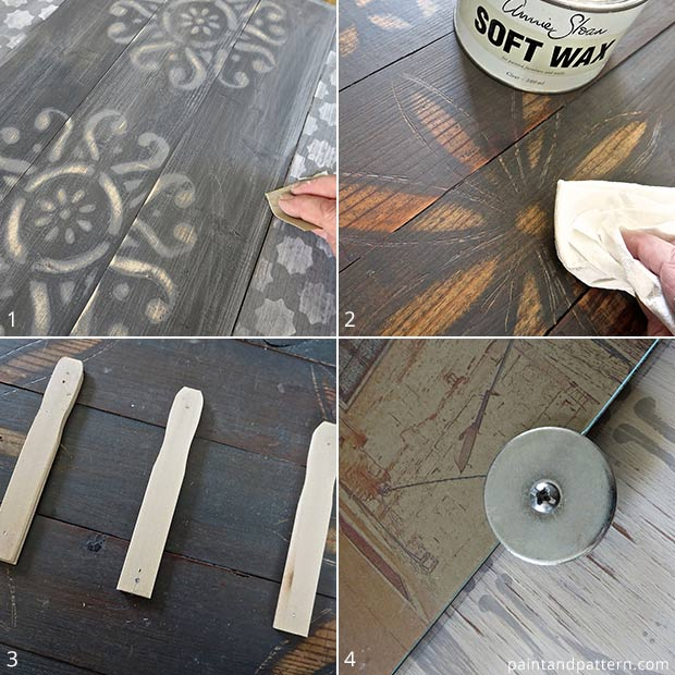 How to assemble rustic stenciled frames via Paint + Pattern