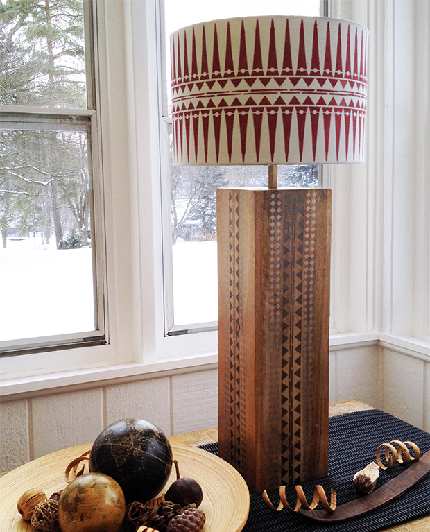 Tribal Stencil Pattern Lamp