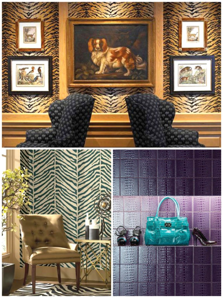Animal Print Pattern Trends: Tiger and Zebra wallpaper patterns