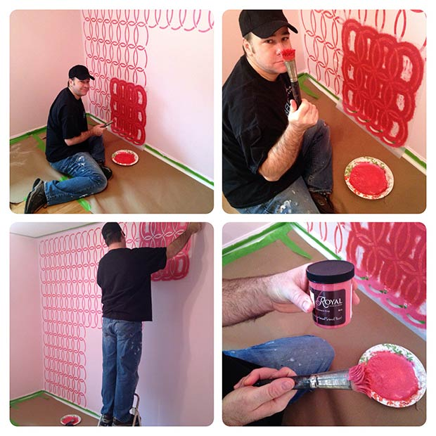 How to stencil an allover pattern that is perfect for a tween room