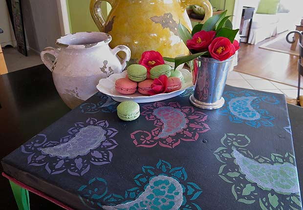 How to stencil an Indian Paisley Pattern with Chalk Paint and Royal Design Studio
