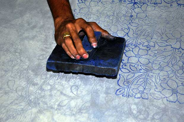 Block Printing pattern for Chikankari embroidery
