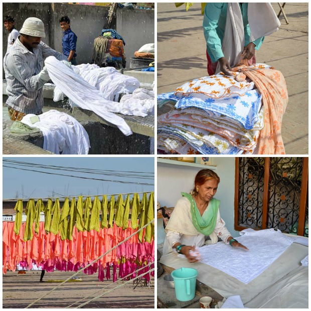 Washing, Drying and Ironing of Chikankari garments after completion of embroidery