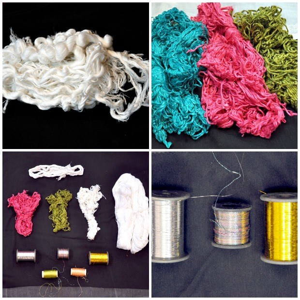 Types of threads used for Chikankari embroidery
