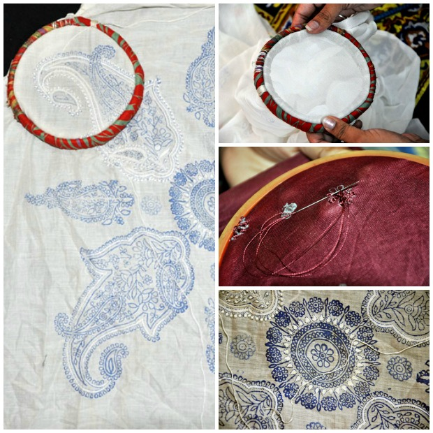 Wooden or cloth frames used for Chikankari Embroidery