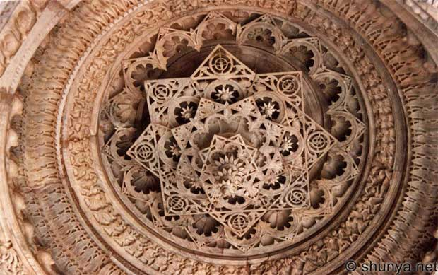 Marble carvings on inverted ceilings of Indian Jain temples via Paint+Pattern