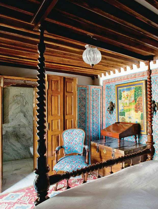 Pattern inspired room from Architectural Digest India Edition