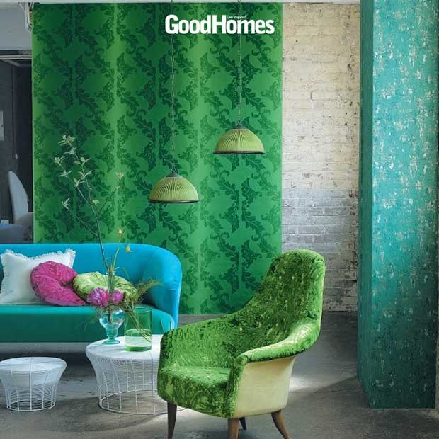 St. Patty inspired room decor as featured in Good Home Magazine