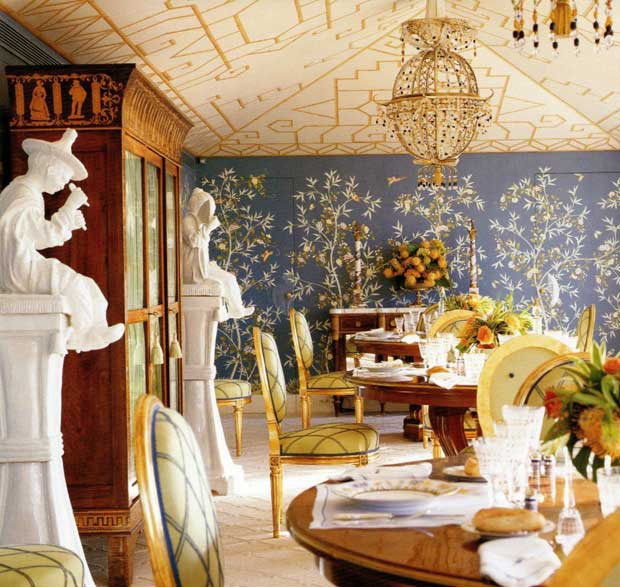 Interiors with an Oriental flair by Alberto Pinto via Paint and Pattern