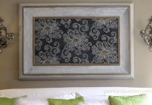 Japanese Inspired Stencil Art Part 2: Chalk Paint Frame