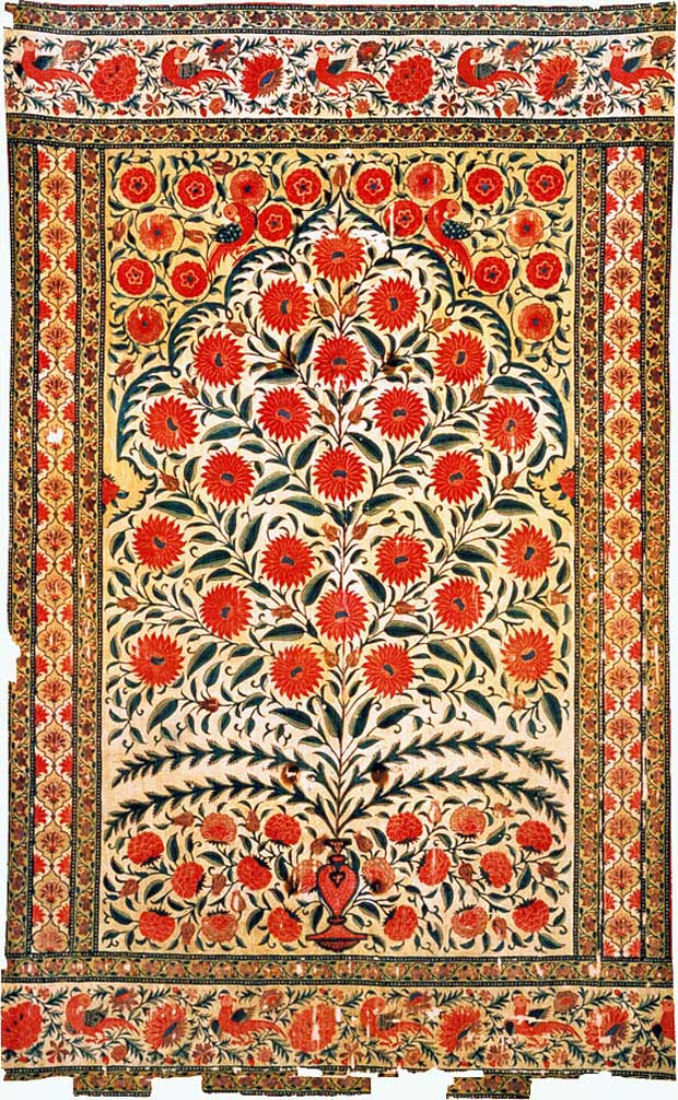 Mughal Tent Fabric via Paint and Pattern