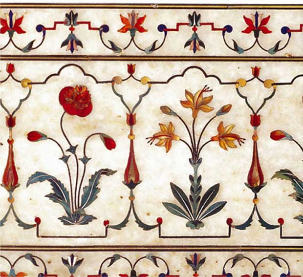 Marble Inlay via Paint and Pattern