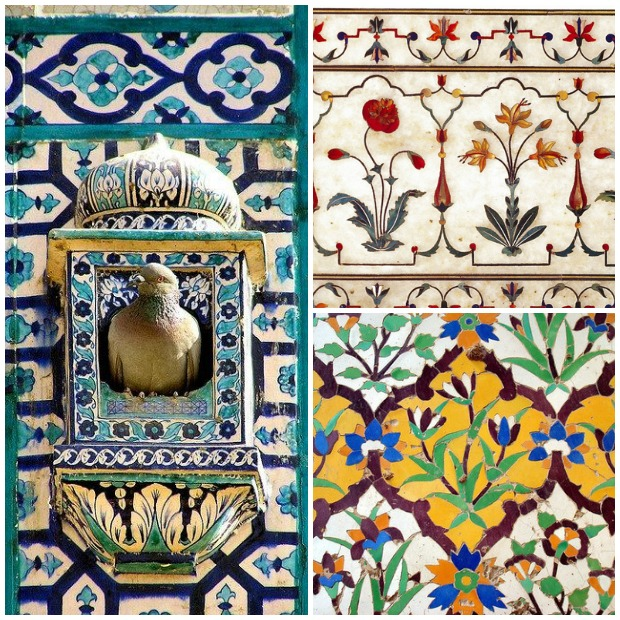 Mughla Inlay and Ceramic Tile Art via Paint and Pattern
