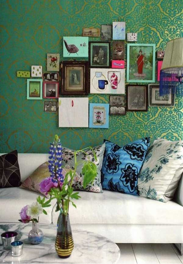 14 Amazing Living Room Designs Indian Style Interior And Decorating Ideas: Paint+Pattern+Pinterest: Green Indian Interiors