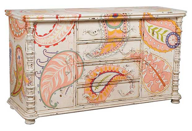 Paisley Spindle Chest by Benny Jackson Designs