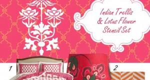 New India Inspired Stencils Have us in the Mood to Decorate!