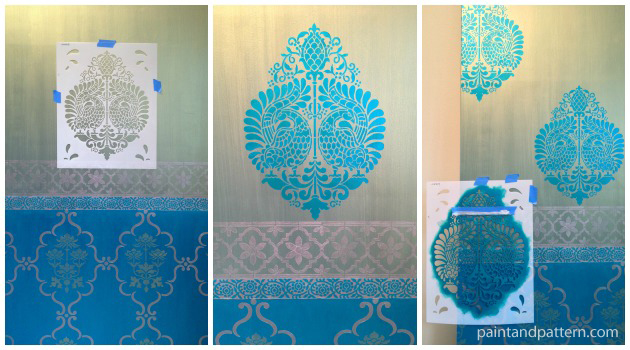 Stenciling Inspired By Silk Saris: A Diy Indian Stenciled Door Project