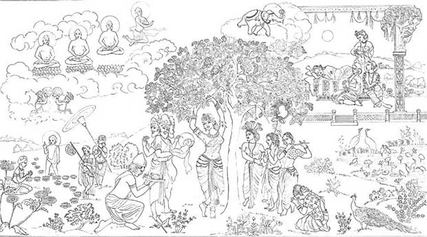 Concept Drawing for the Sacred Murals Projects at Sarnath, India