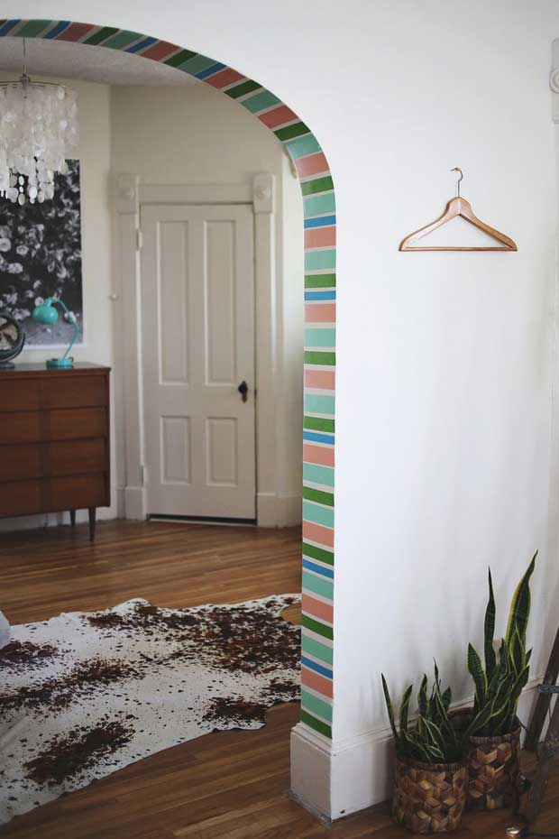 Archway Accent with Washi Tape via Paint+Pattern