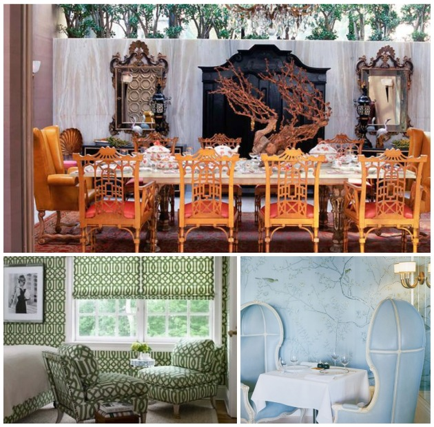 Contemporary Home Decor with Chinoiserie Paint Pattern