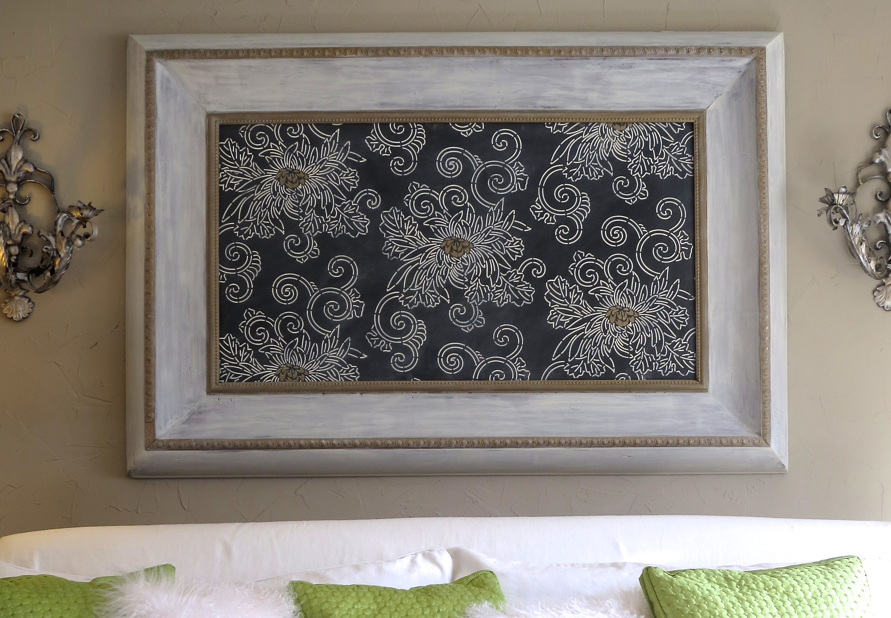 Japanese inspired stencil art framed chrysanthemums part 1 japanese inspired stencil art framed chrysanthemums part 1 paint pattern amipublicfo Image collections