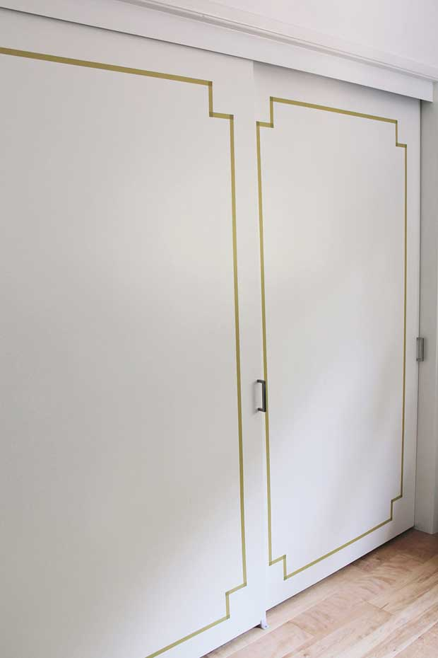 Doorway Decor with Washi Tape via Paint+Pattern
