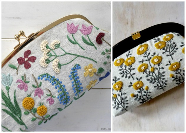 Japanese-Emrboidery-Floral Pouches