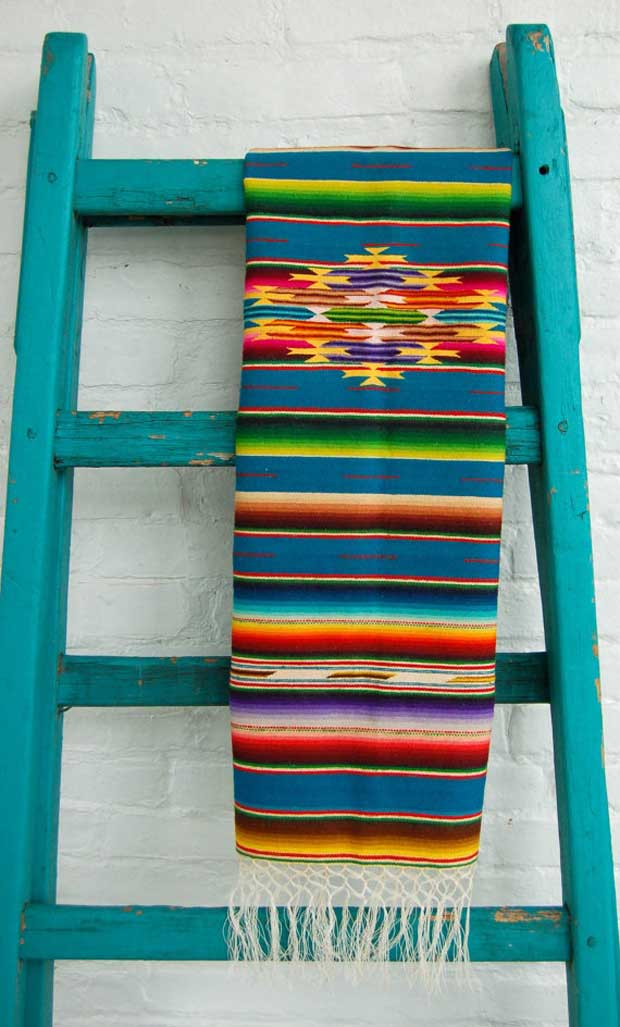 Mexican wool runner via Paint + Pattern