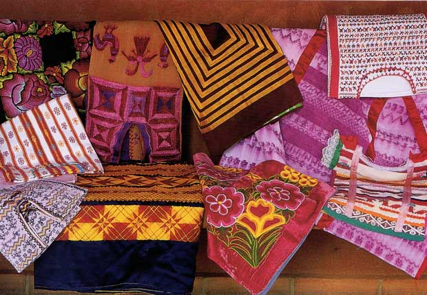 A collection of huipiles from Oaxaca via MexiColor | Paint + Pattern