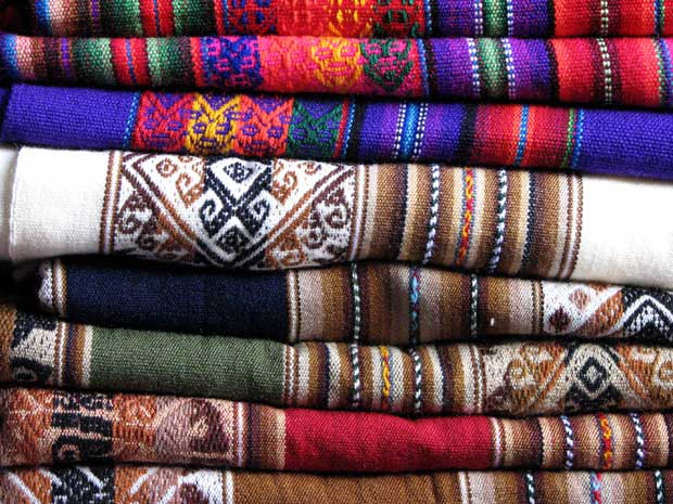 Colorful Latin American Textiles of Peru via Paint + Pattern