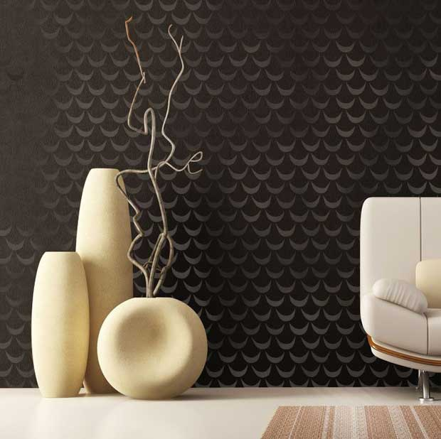 Scallops Trend in interiors | African Wave Stencil via Royal Design Studio | Paint + Pattern