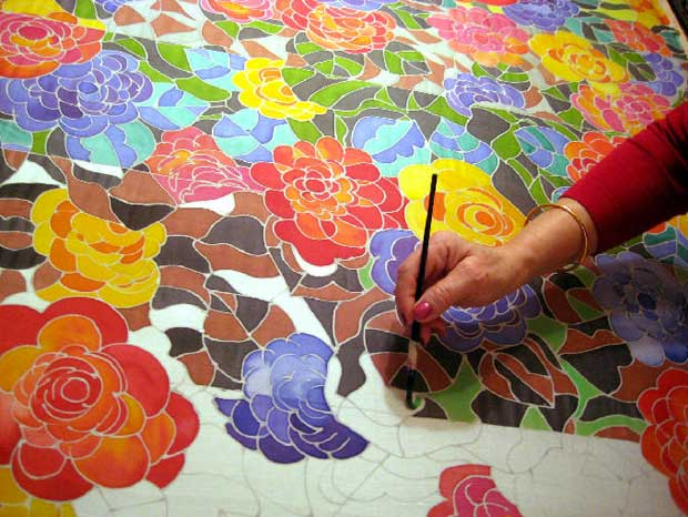 The Ancient Technique Of The Gorgeous Serti Silk Painting Paint