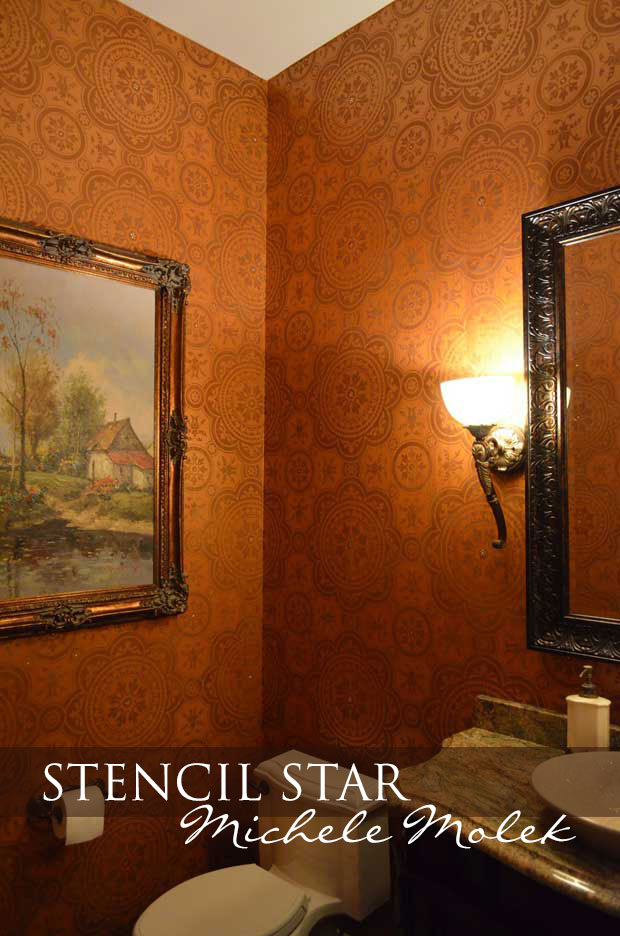 Stenciled wall finishes by Michele Molek using stencils by Modello Designs | Paint + Pattern
