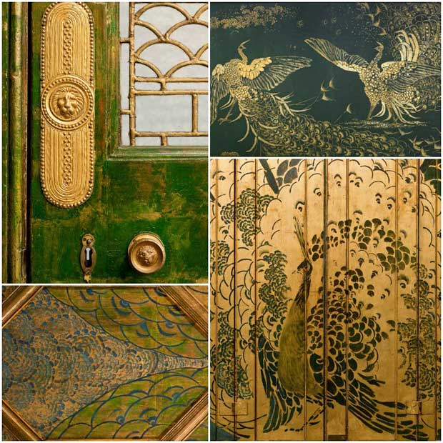 Paint and gold leaf decorative arts in The Peacock Room | Paint + Pattern