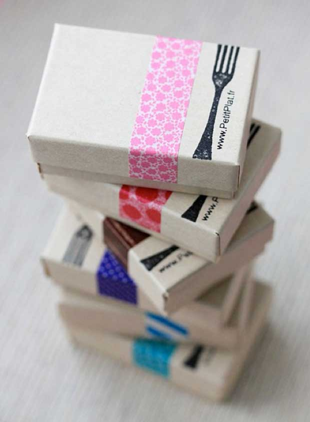 Washi Tape Wedding Favors via Paint+Pattern