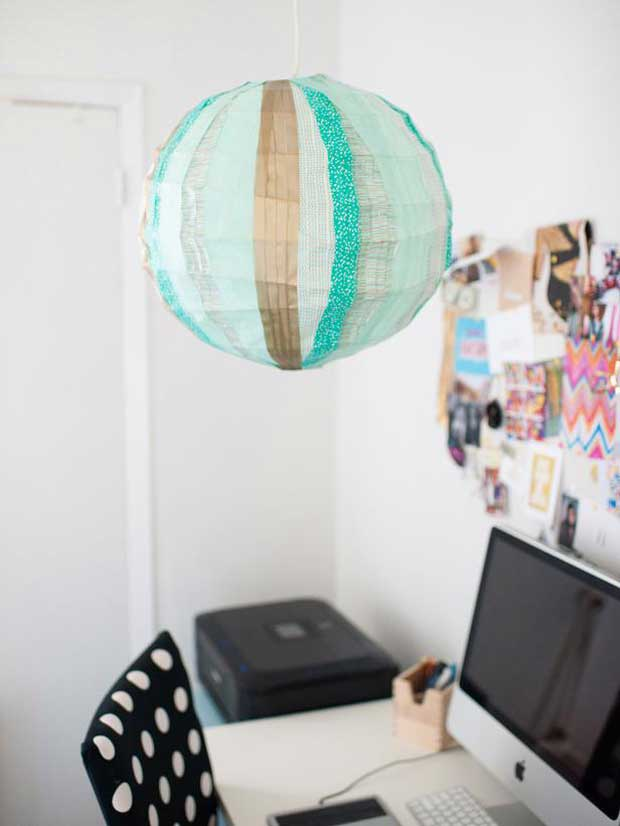 Washi Tape on Lantern via Paint+Pattern