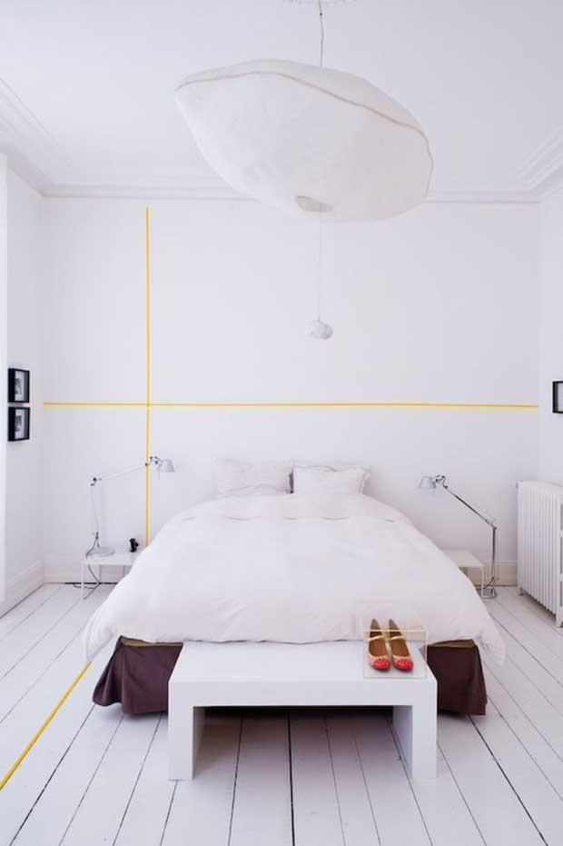 Washi Tape on Walls and Floors via Paint+Pattern