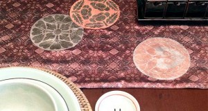 Inspired by Obis: Stenciled Table Runner