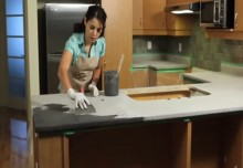 Encore Countertops Day 2: Artistically Resurface Your Kitchen Countertops