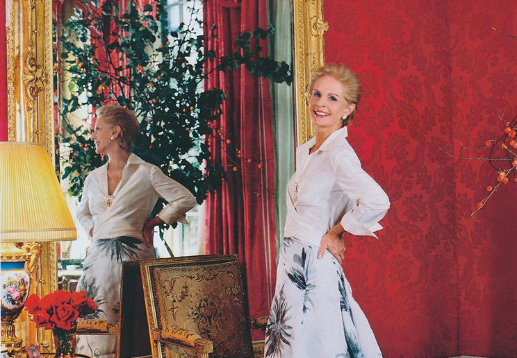 The Life And Design Of Carolina Herrera Paint Pattern