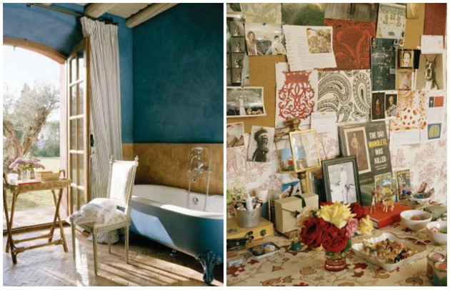 Carolina Herrera's residence via Paint + Pattern