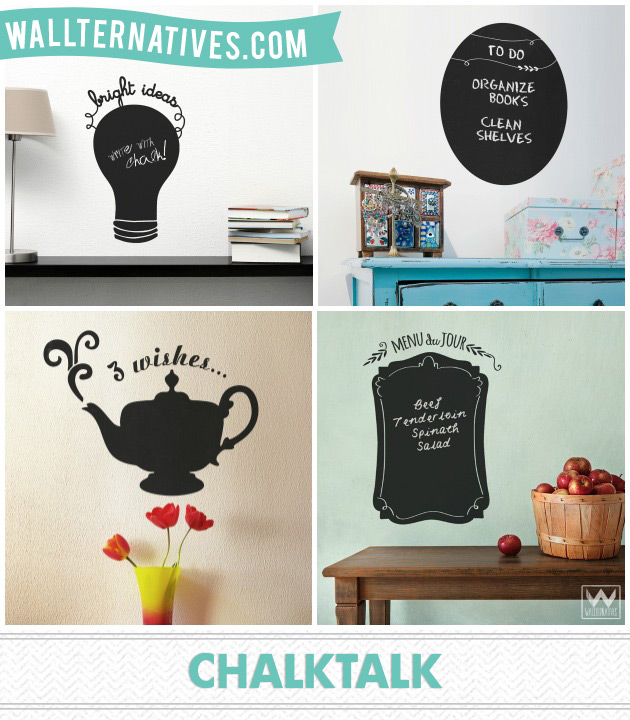 ChalkTalk chalkboards by Wallternatives via Paint + Pattern