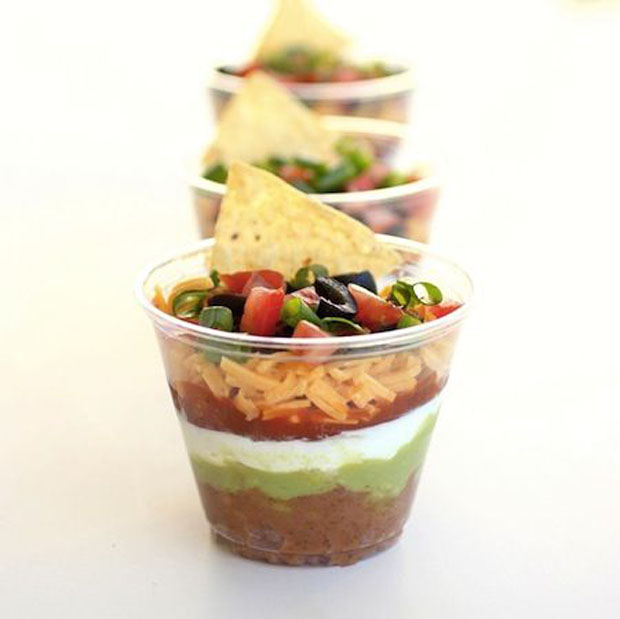 Cinco De Mayo Party Ideas for 7 Layer Dip DIY via Paint + Pattern