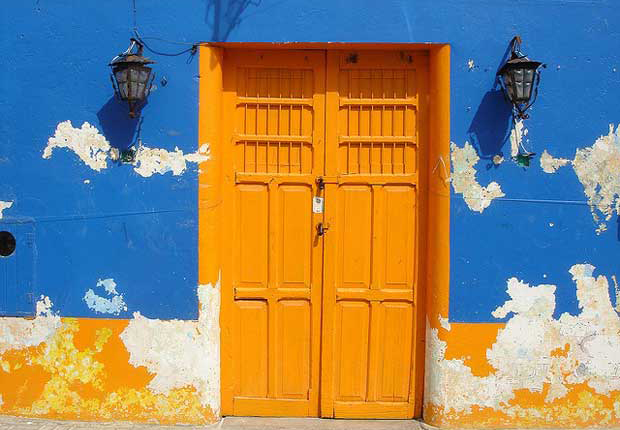 The Color Splashed Doors Of Latin America Paint Pattern