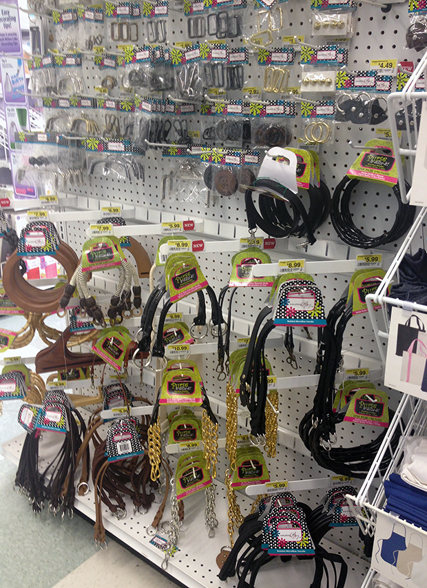 Handbag Handle Selection at JoAnn via Paint + Pattern