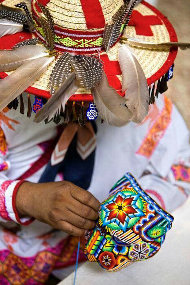 An Huichol tribe artisan at work | Paint + Pattern
