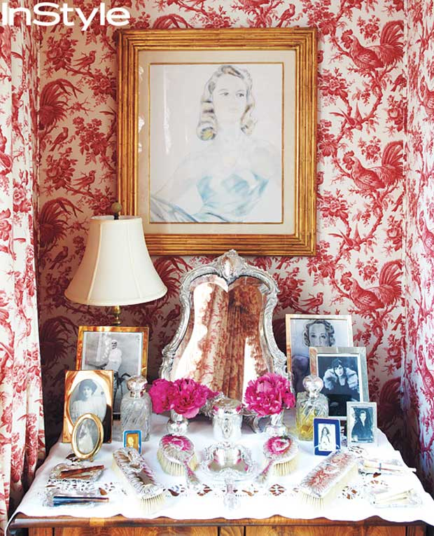 Carolina-Herrera's residence from Instyle magazine via Paint + Pattern