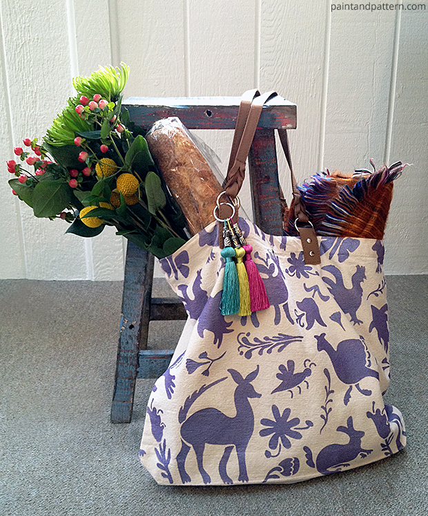 Lilac Otomi Totle Bag DIY via Paint + Pattern