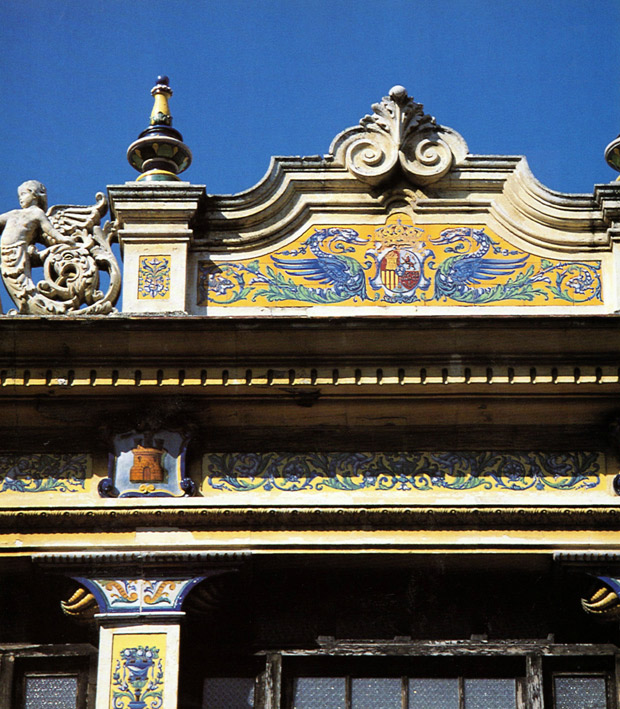 Yellow and cobalt blue tiles (azulejos) adorn some of the architecture in old Havana   Living in Cuba   Paint + Pattern